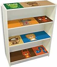 YOURDEA - Möbelaufkleber Kinderzimmer IKEA Billy Regal Böden 100x80cm mit Motiv: Offene Arme inklusive Rakel SET