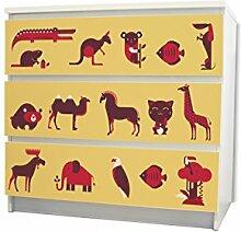 YOURDEA MöbelFolie für Ikea Malm Kommode mit 3