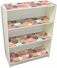 YOURDEA - Möbelsticker IKEA Billy Regal Böden 100x80cm Möbel Sticker mit Motiv: Einfache Blüten