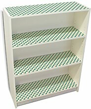 YOURDEA - Möbelsticker IKEA Billy Regal Böden 100x80cm Möbel Sticker mit Motiv: Raster Grün inklusive Rakel SET