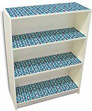 YOURDEA - Möbelsticker IKEA Billy Regal Böden 100x80cm Möbel Sticker mit Motiv: Geflecht RWB inklusive Rakel