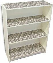 YOURDEA - Möbelsticker IKEA Billy Regal Böden 100x80cm Möbel Sticker mit Motiv: Damast SW