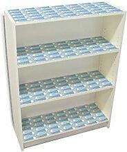 YOURDEA - Möbelsticker IKEA Billy Regal Böden 100x80cm Möbel Sticker mit Motiv: Fische Blau inklusive Rakel