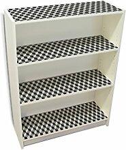 YOURDEA - Möbelsticker IKEA Billy Regal Böden 100x80cm Möbel Sticker mit Motiv: Würfel inklusive Rakel