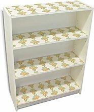 YOURDEA - Möbelsticker IKEA Billy Regal Böden 100x80cm Möbel Sticker mit Motiv: Exotische Lilie inklusive Rakel