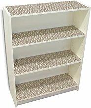 YOURDEA - Möbeltattoo IKEA Billy Regal Böden 100x80cm Möbel Aufkleber mit Motiv: Muster Indisch inklusive Rakel SET
