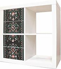 YOURDEA - Schranksticker Möbel für IKEA Expedit / Kallax Kommode Regal mit Motiv Aztekisch