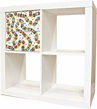 YOURDEA - Sticker Möbel Aufkleber für IKEA Expedit / Kallax Schrank Kommode mit Motiv Bunte Ketten