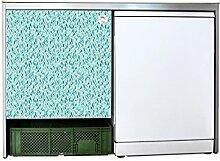 YOURDEA - Sticker Möbel Aufkleber für IKEA Udden Schrank mit Motiv Grüne Blätter inklusive Rakel