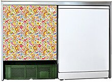 YOURDEA - Sticker Möbel Aufkleber für IKEA Udden Schrank mit Motiv Früchtchen inklusive Rakel SET
