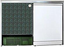 YOURDEA - Sticker Möbel Aufkleber für IKEA Udden Schrank mit Motiv Floral Minze inklusive Rakel