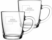 YourSurprise Teeglas mit Gravur Personalisierbar