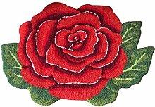 YOUSA Roter Teppich in Rosenform, rutschfeste
