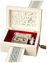 YouTang Musik-Box mit Handkurbel, Holz,
