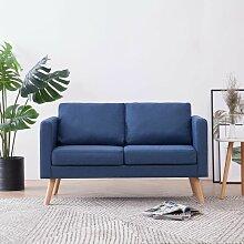 YOUTHUP 2-Sitzer-Sofa Stoff Blau