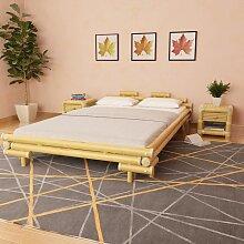 YOUTHUP Bettgestell Bambus 140×200 cm