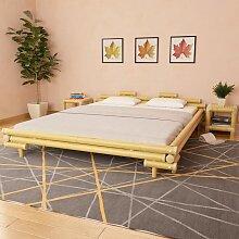 YOUTHUP Bettgestell Bambus 180×200 cm