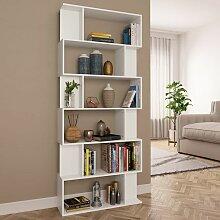 YOUTHUP Bücherregal/Raumteiler Weiß 80×24×192