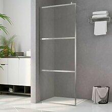 YOUTHUP Duschwand für Begehbare Dusche mit Klarem