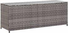 YOUTHUP Gartenbox Grau 150×50×60 cm Poly Rattan