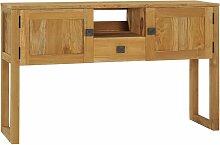 YOUTHUP Konsolentisch 120x32x75 cm Teak Massivholz