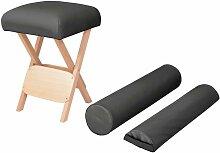 YOUTHUP Massage-Klapphocker 12 cm Dicker Sitz + 2