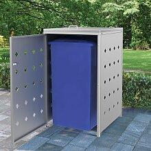 YOUTHUP Mülltonnenbox für 1 Tonne 240 L Edelstahl