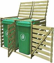 YOUTHUP Mülltonnenbox für 2 Tonnen 240 L