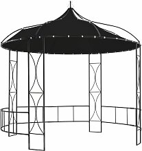 YOUTHUP Pavillon 300 x 290 cm Anthrazit Rund