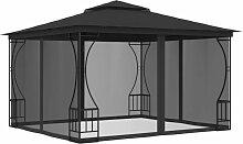 YOUTHUP Pavillon mit Vorh?ngen 300x300x265 cm