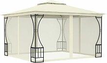YOUTHUP Pavillon mit Vorhängen 300x300x265 cm