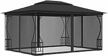 YOUTHUP Pavillon mit Vorhängen 300x400x265 cm