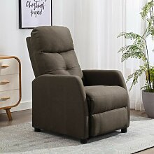 YOUTHUP Relaxsessel Taupe Stoff