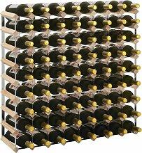 YOUTHUP Weinregal für 72 Flaschen Massivholz