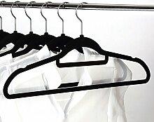 Youvinson Samt Kleiderbügel Basics Kleiderbügel mit Samt überzogen,Schwarz,15 Stück