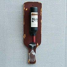 YOUZHI Vintage Eisen weinregal Wand haushalts