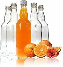 YOUZiNGS Glas-Flaschen 500ml (0,5L) mit