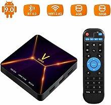 YPSMLYY Android 9.0 Smart-Netzwerk-TV-Box RK3318