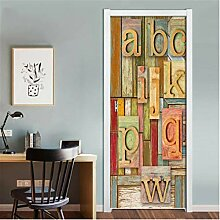 YPXXPY Ambiance Art Aufkleber 3D Tür Wandbild,