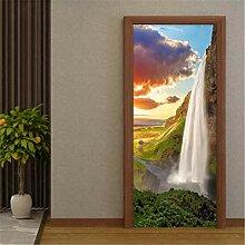 YPXXPY Kunst Tür Aufkleber Landschaft 3D Weißer
