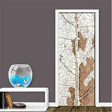 YPXXPY Tür Wandaufkleber 3D Tür Aufkleber Blatt
