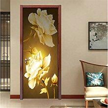 YPXXPY Tür Wandaufkleber 3D Tür Aufkleber Blume