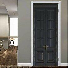 YPXXPY Tür Wandaufkleber 3D Tür Aufkleber Dunkle