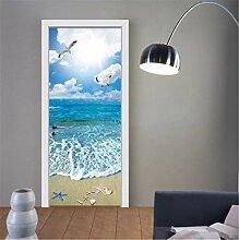 YPXXPY Tür Wandaufkleber 3D Tür Aufkleber Ebbe