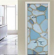 YPXXPY Tür Wandaufkleber 3D Tür Aufkleber Marmor