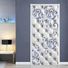 YPXXPY Tür Wandaufkleber 3D Tür Aufkleber Perle