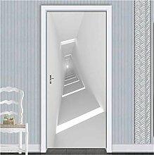 YPXXPY Tür Wandaufkleber 3D Tür Aufkleber Raum