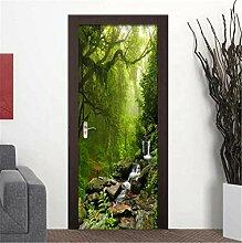 YPXXPY Tür Wandaufkleber 3D Tür Aufkleber Wald