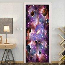 YPXXPY Tür Wandfarbe Planet Planet Tür Tür
