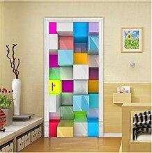 YPXXPY Tür Wandfarbe quadratisches Gitter Büro